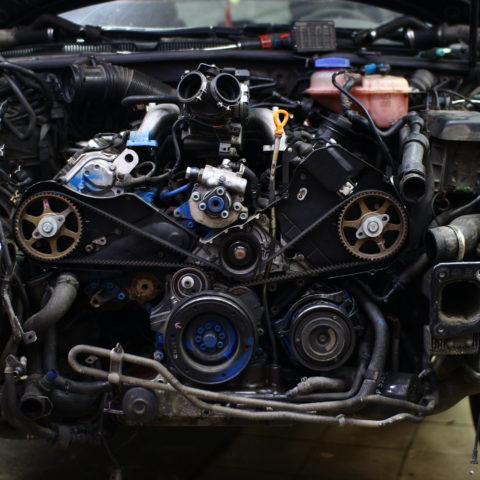 ремонт двигателя видное